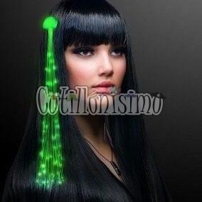 Extensiones De Pelo Verde (led) - Cotillonisimo