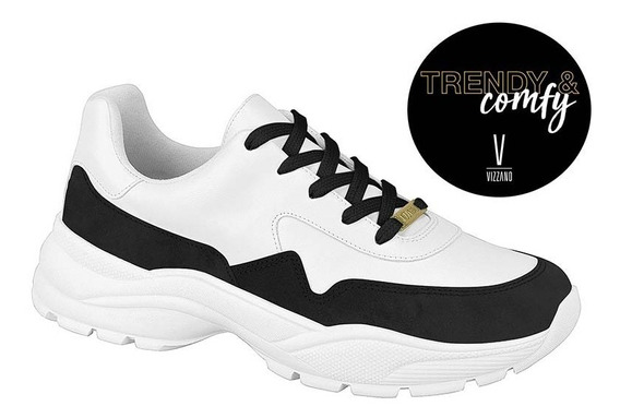 Tênis Feminino Vizzano Trendy Blogueira Branco Lançamento
