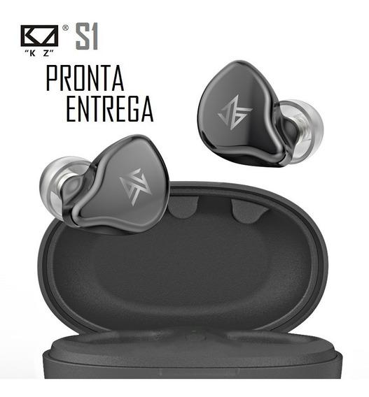 Fone Bluetooth Kz S1 Tws Híbrido 4 Drives Melhor S1d Edifier
