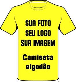 Camiseta Personalizada De Algodão Sua Foto Imagem Seu Logo