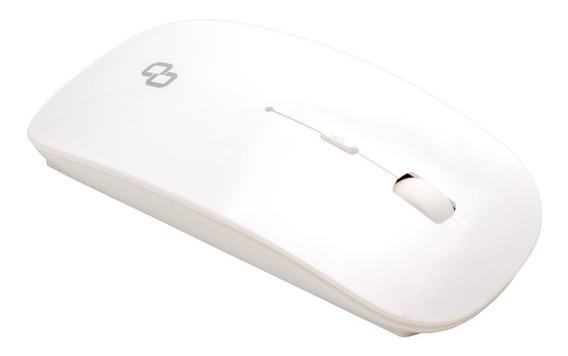 Mouse Óptico Sem Fio Usb Goldentec Gt Wsl Branco