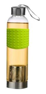 Botella De Agua Para Infusiones Vidrio Y Dosificador 500ml V