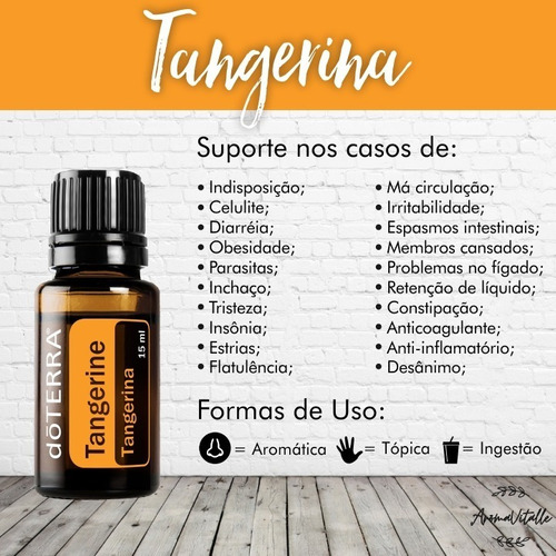 Oleo Essencial Do Terra Tangerine 15ml Original