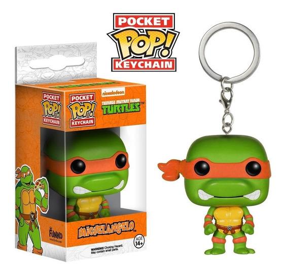 Chaveiro Michelangelo - Tartarugas Ninja - Pocket Pop! Funko
