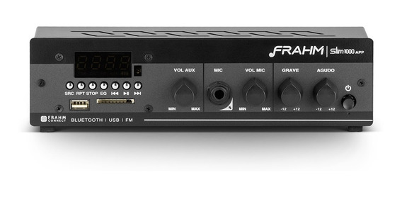 Receiver Amplificador Som Ambiente Frahm Slim 1000 App G2 Bt