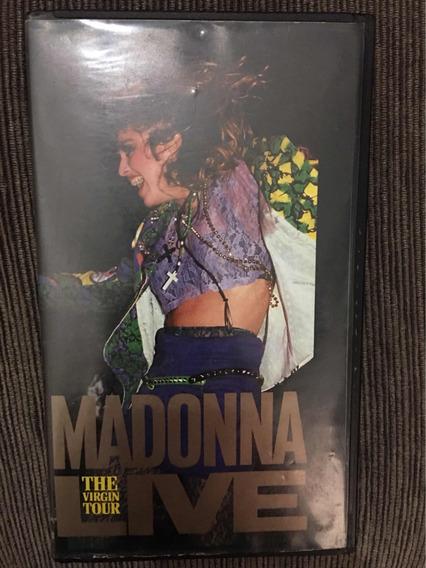 Vhs Madonna Live The Virgin Tour Original Ref 0004