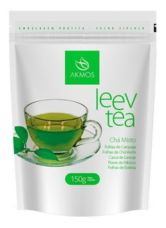 Chá Misto Verde Akmos Para Emagrecer Leav Tea 150g Original