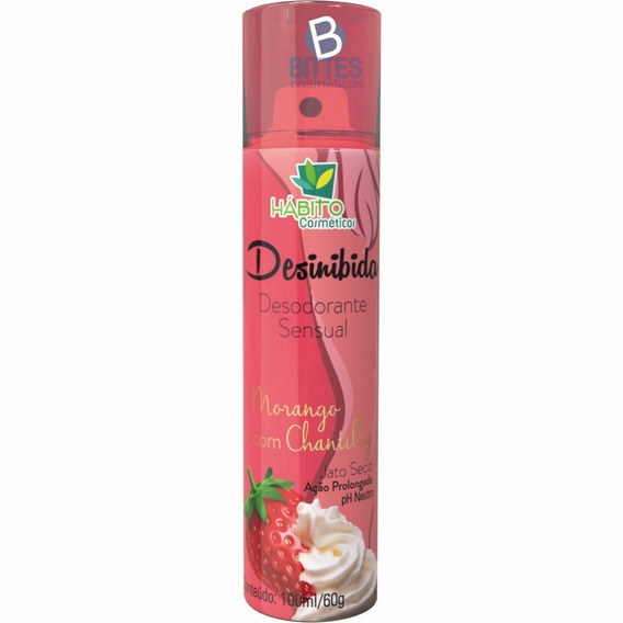 Desodorante Feminino Hábito Cosmético Intimo Sensual Morango