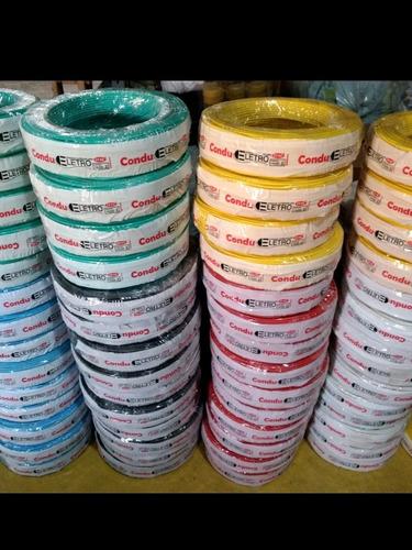 Fio Cabo Eletrico Flexivel 6mm - 100mts Colorido Para Obras