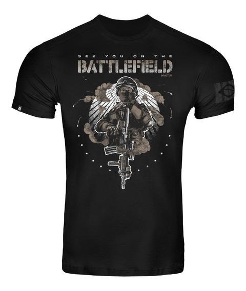Camiseta T-shirt Invictus Concept Fps Tática Airsoft Soldado