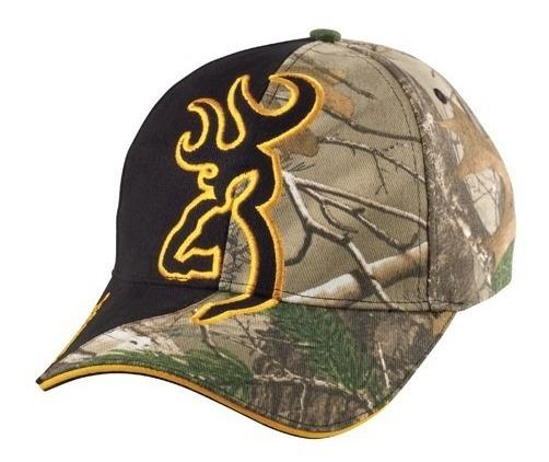 Gorra Browning Original Camouflage Con Negro Cachucha Caza