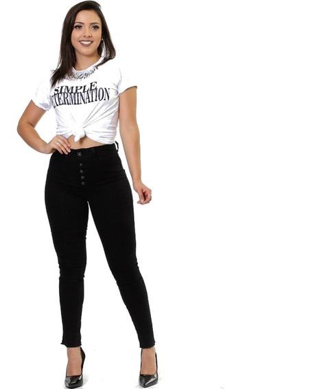 Calça Jeans Feminina Levanta Bumbum Lycra Biotipo Promoção