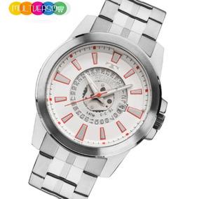 Relógio Technos Original Masc. Prateado Aço Frete Grátis