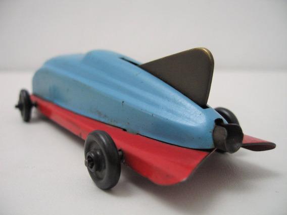 Antiguo Coche Carreras Monoplaza Aerodinámico Lámina Racer