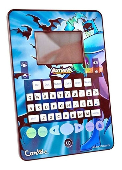 Tablet Batman Candide Infantil Com 84 Jogos Leia Descrição