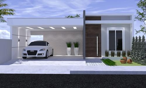 Imagem 1 de 10 de Planta De Casa 2 Quartos - Projeto Completo+aprovação Ea-128