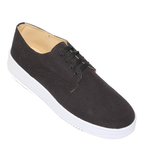 Zapatos Casuales Leon Dama Mujer Negro Textil 12
