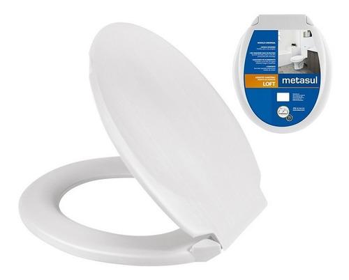 Tapa Inodoro Plástica Blanca-soft Metasul-10502004 Rtc Uy