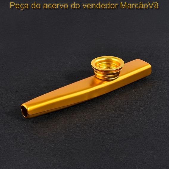 Kazoo Instrumento Musical De Sopro Com + 5 Peliculas Dourado