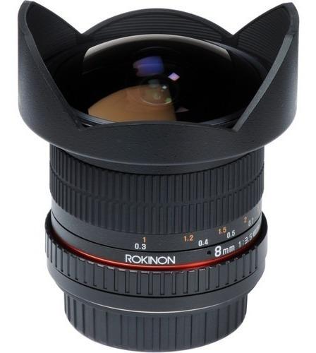 Lente Ojo De Pez Rokinon Hd8m-c 8mm F3.5 Para Canon