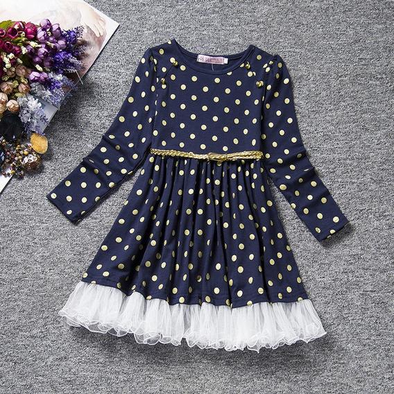 Punto Largo Manga Vestido Para Niñas Ropa Bebé Niña Ropa