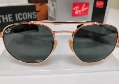 Óculos Sol Ray-ban Marshal Rb3648 Dourado Lentes G15 Verdes