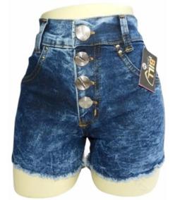 Short Jeans Kit Com 08 Hot Pants Cintura Alta Pra Revenda