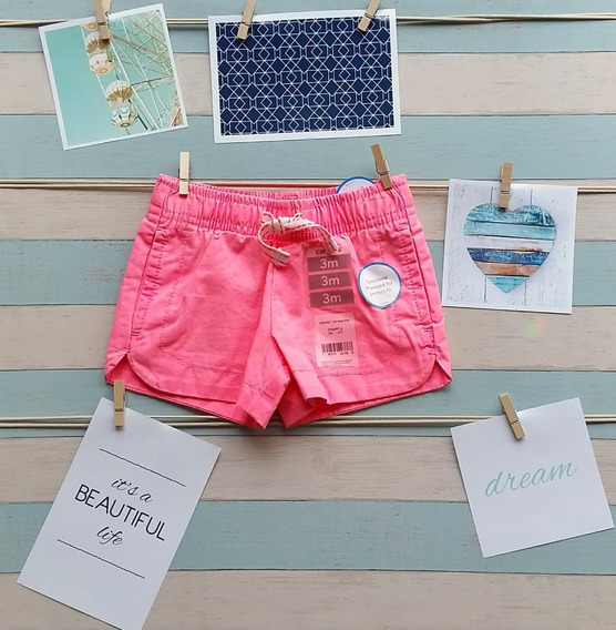 Shorts Carters Para Meninas Bebê Original - Lazer E Estilo