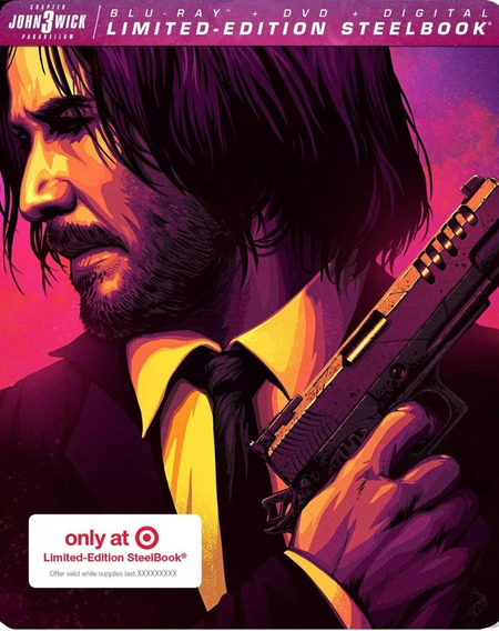 John Wick 3 Tres Target Steelbook Pelicula Blu-ray + Dvd