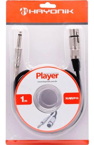 Cabo 1 Metro P/ Microfone Xlr (f) X P10 Player Hayonik