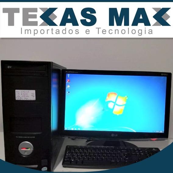 Computador Core 2 Quad Monitor 15 C/ Teclado E Mouse