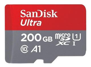 Cartão de memória SanDisk SDSQUAR-200G-GN6MA Ultra com adaptador SD 200GB