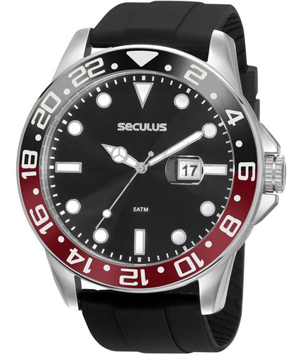 Relógio Masculino Seculus 2 Anos De Garantia 20902g0svnu2