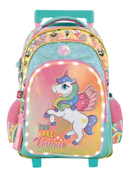 Mochila Carro Unicornio Luz Led 18