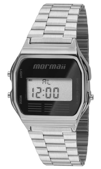 Relógio Vintage Mormaii Barato Original Mojh02aa/3p Prata