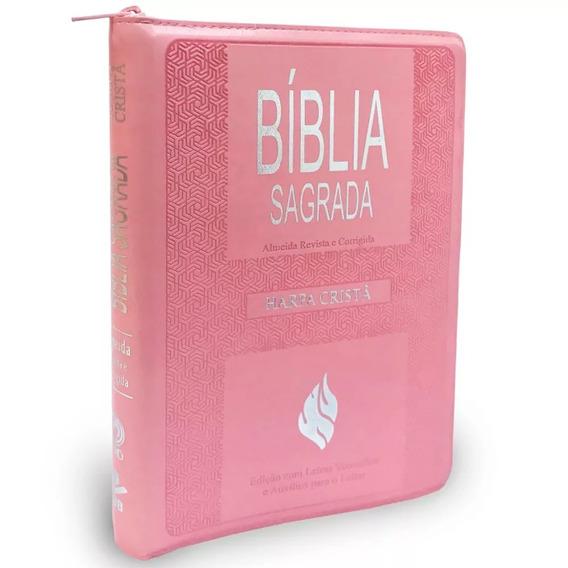 Bíblia Grande Com Harpa Letra Gigante Índice Zíper