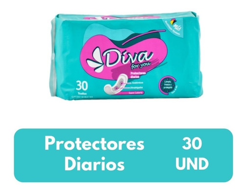 Imagen 1 de 2 de Protectores Diarios Diva Bulto De 48 Paq 30 Und C/u