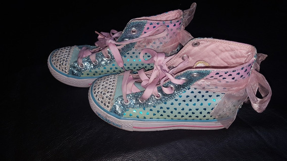 Zapatillas Botitas Skechers Con Luces T. Usa 1 Impecables!!!