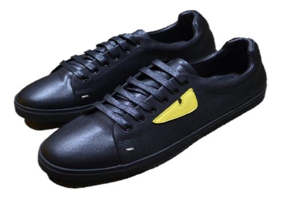 Tenis Sneakers Fendi Eyes Black Envio Gratis