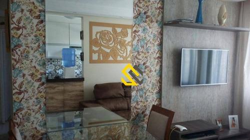 Imagem 1 de 20 de Apartamento Com 2 Dormitórios À Venda, 49 M² Por R$ 190.000,00 - Condomínio Parque Sicília - Votorantim/sp - Ap0449