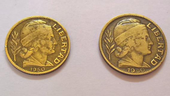 Monedas República Argentina - 5 A 20 Centavos - Años 1950/59