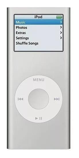 iPod Nano 2a Geração 2gb A1199 Cor Prata + 3 Skins De Silicone