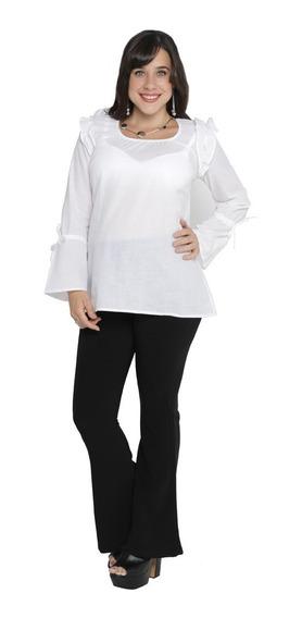 Camiseta Blusa Para Embarazada Voile Algodón Manga Murcielago - Liquidación