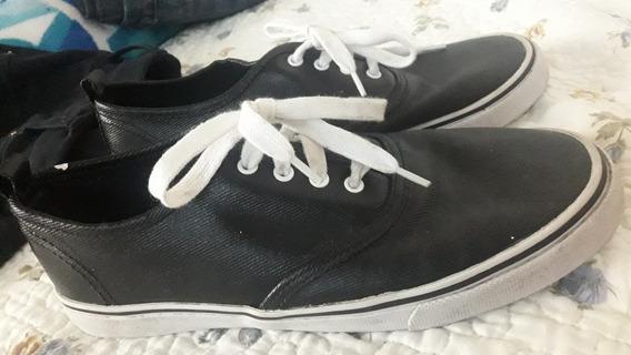 Zapatillas De Ecocuero 39/40 Importadas Una Sola Postura