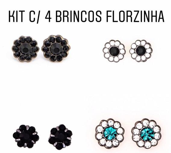 Kit Com 4 Brincos Pequenos De Florzinha - Kt20 //r$3,20 Cada