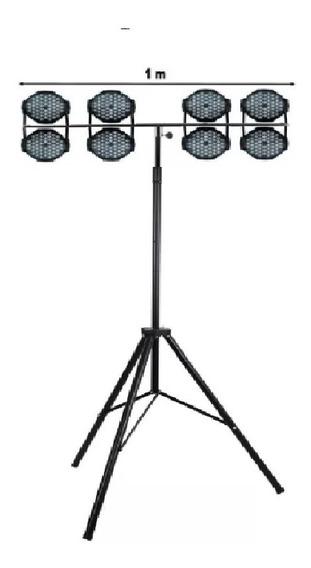 Pedestal Tripé P/ Iluminação Profissional Dj Modelo Em T Aço