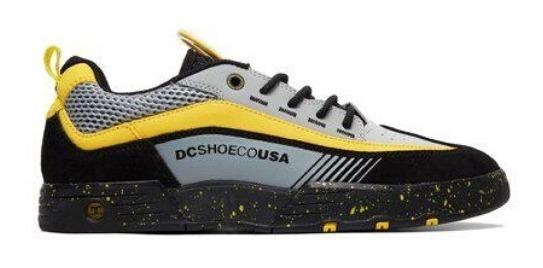 Tênis Dc Shoes Legacy 98 Slim Black Grey Yellow
