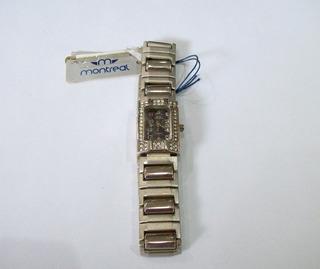 Reloj Montreal Acero Dama Mr-201 Garantía   Promo 40%