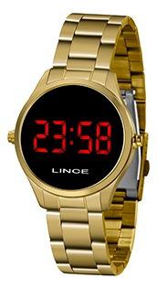 Relógio Unissex Lince Puls Aço Led 50m Ref. Mdg4618l-vxkx