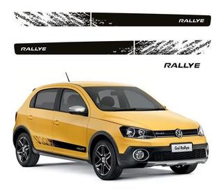 Faixa Kit Lateral Rallye + Adesivo Rallye Gol G6 Preto